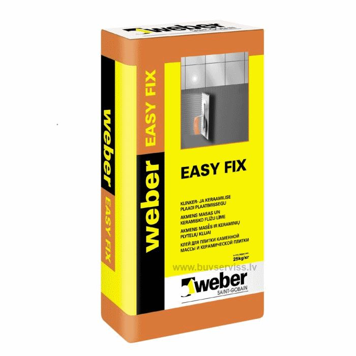 Weber Easy Fix (ex Vetonit Easy Fix) 25kg flīžu līme